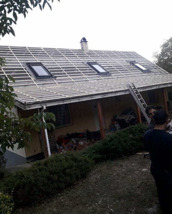 Családi ház tetőjavítás